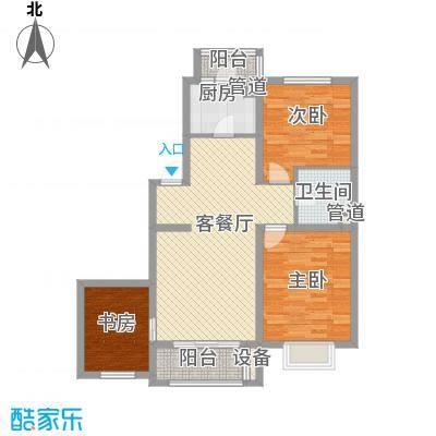 坦洲锦绣阳光花园11.00㎡户型3室