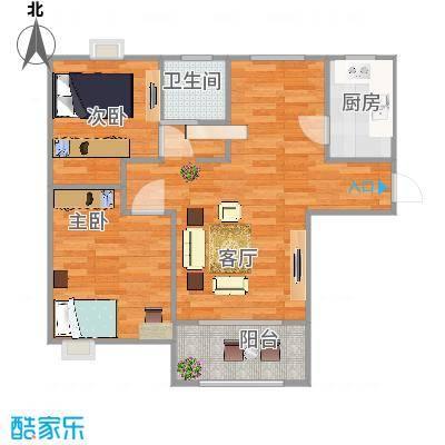 索美装饰---证大・大拇指广场87平F3两室两厅