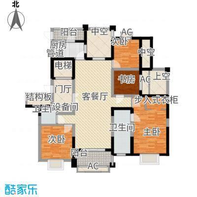 华城花园177.00㎡F户型4室2厅2卫1厨