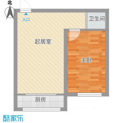 时代庄园5.16㎡E户型1室1厅1卫1厨