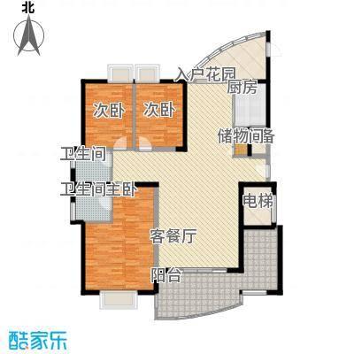 瑞景公园165.00㎡13#楼标准层A型户型3室2厅2卫1厨
