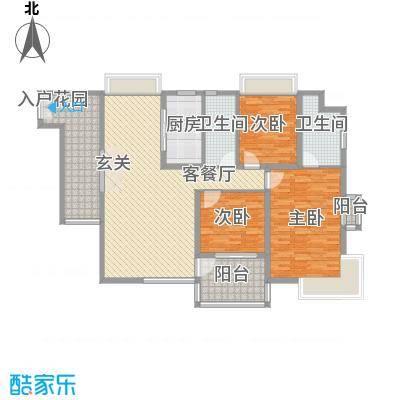 海峡国际社区161.00㎡8号楼标准层02户型3室2厅2卫1厨
