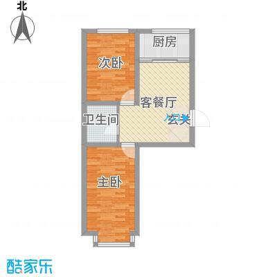 凤凰城61.70㎡D户型2室1厅1卫