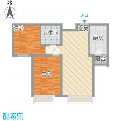 中鼎馨城7.88㎡D户型2室2厅1卫1厨