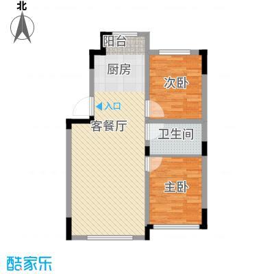 清泉旺第86.00㎡户型3室2厅1卫1厨