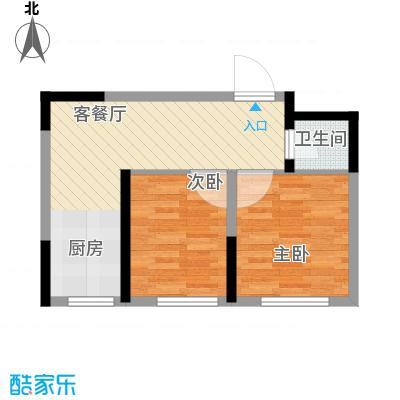 清泉旺第62.00㎡户型2室2厅1卫1厨