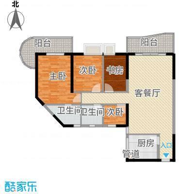 禹洲世纪海湾137.11㎡A/B型户型4室2厅2卫1厨