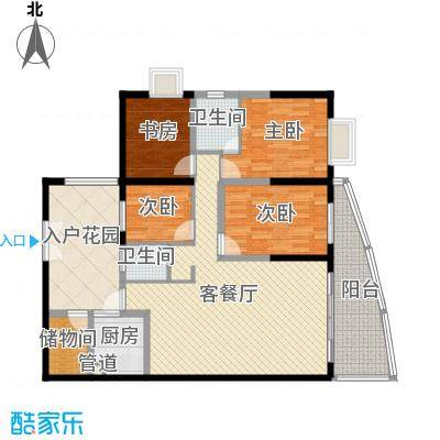 禹洲世纪海湾罗马楼5#E/F户型4室2厅2卫1厨