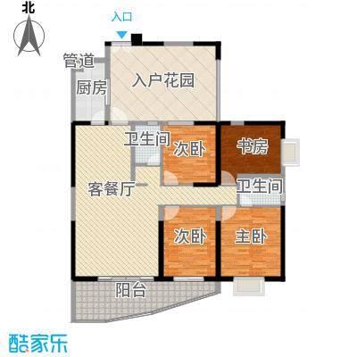 禹洲世纪海湾165.70㎡C/D型户型4室2厅2卫1厨