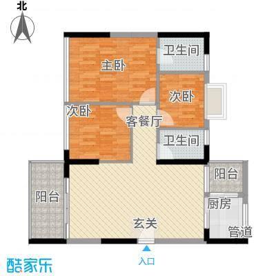 金碧丽江东第云松阁4-01户型3室2厅2卫