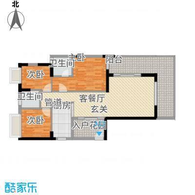 金碧时代广场127.10㎡户型3室2厅2卫