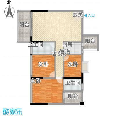 金碧丽江东第1.46㎡云松阁4-03户型3室2厅2卫