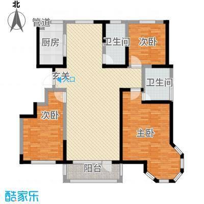 舜景苑163.46㎡一期高层23、24、25、26号楼E户型3室2厅2卫1厨