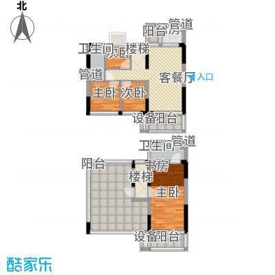 金碧丽江东第122.22㎡云松阁3-05F户型5室2厅2卫