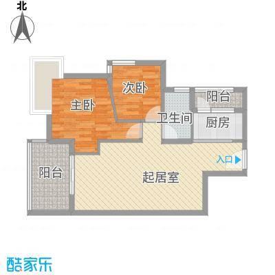 华发国际花园善仕居户型2室2厅1卫