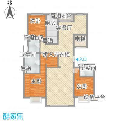 京投银泰・琨御府183.00㎡18号楼M户型4室2厅3卫1厨