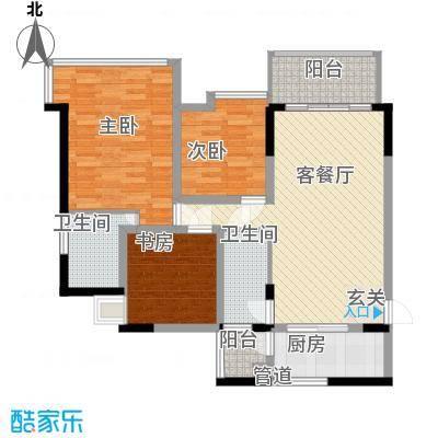 棕榈四季86.00㎡3栋1-2单元0/4栋1单位0户型3室2厅2卫1厨