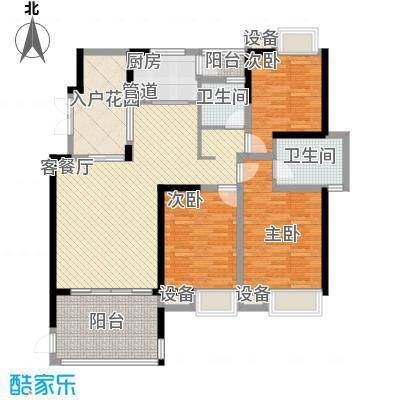 世纪城龙祺苑户型4室