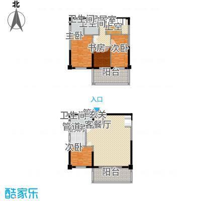 融景居(科技大厦)28.33㎡融景居D型户型4室2厅3卫1厨