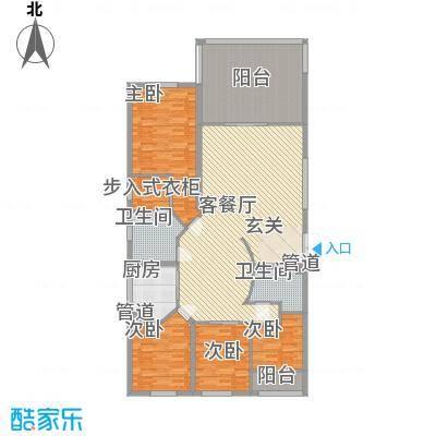 融景居(科技大厦)融景居A型户型4室2厅2卫1厨