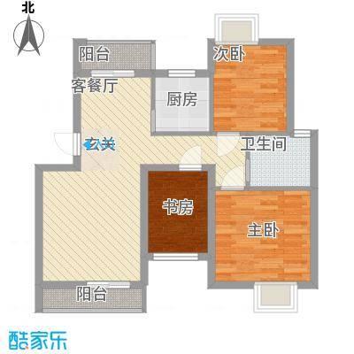 快乐天地6.00㎡户型3室