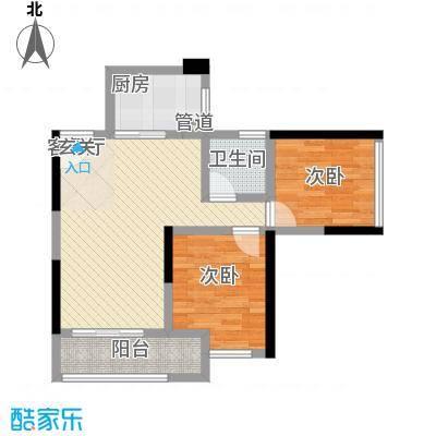 鸿翠阁68.88㎡2栋0户型2室2厅1卫1厨