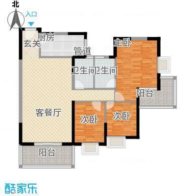太微花园E户型3室2厅2卫1厨