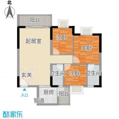 西江月雅园128.00㎡户型3室
