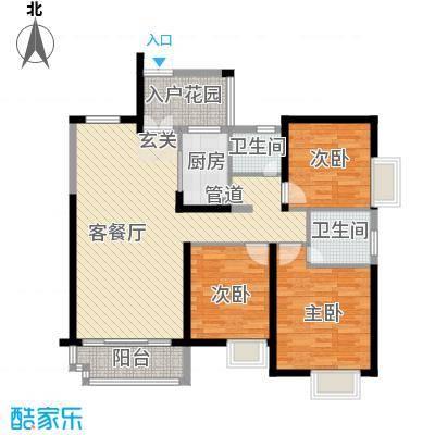 世纪城龙昌苑126.00㎡户型3室