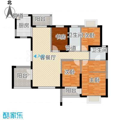 石竹新花园户型5室