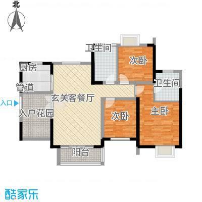 世纪城龙昌苑135.00㎡户型3室