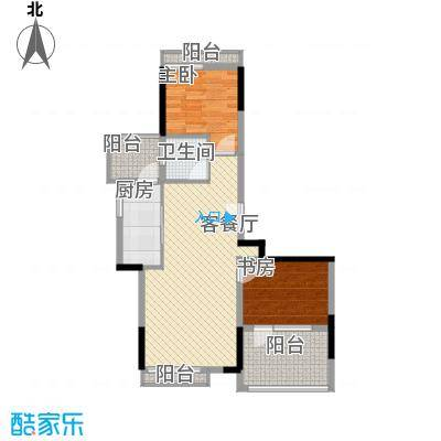 恒大雅苑东莞户型2室2厅
