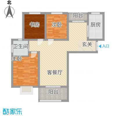 金色家园一期1#、4#、5#楼边户A户型