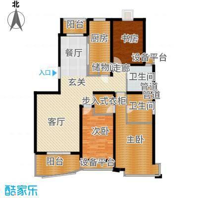城市艺术季134.00㎡房型: 三房; 面积段: 134 -150 平方米; 户型-副本