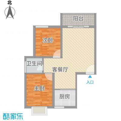 九院新区项目85.00㎡B户型2室2厅1卫1厨