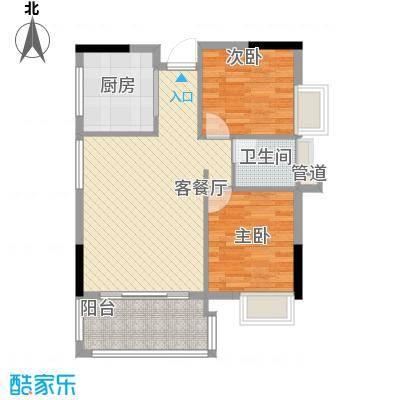 黄金花园黄金苑7.00㎡户型2室2厅1卫1厨