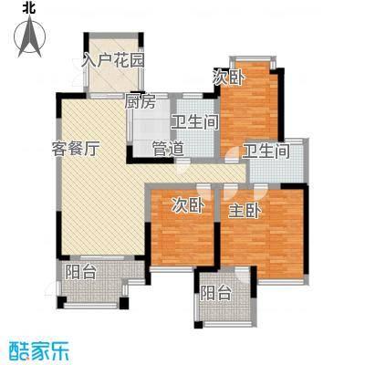 世纪城龙吉苑136.00㎡户型3室