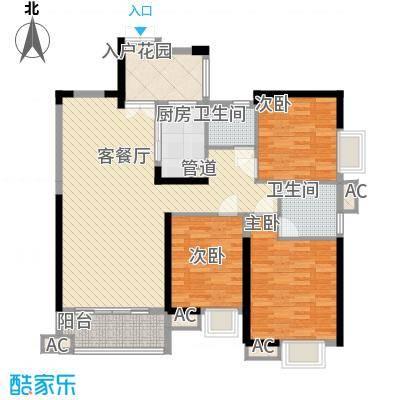 世纪城龙吉苑135.00㎡户型3室