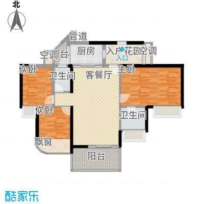 龙园8号2号楼偶数层03户型3室2厅1卫