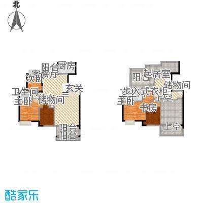 中铁海曦18.41㎡7#楼28跃29层01单元户型5室2厅2卫1厨