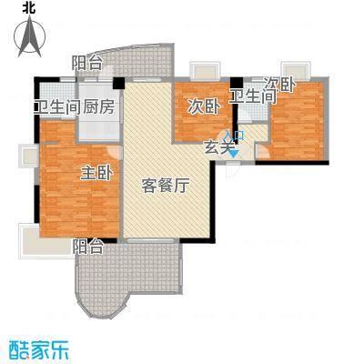 金海湾172.10㎡3期1#T1、T2-01、03单元户型3室2厅2卫1厨