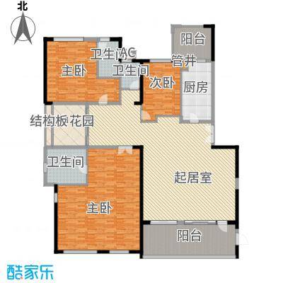 皇马郦宫242.00㎡G1户型3室2厅3卫1厨