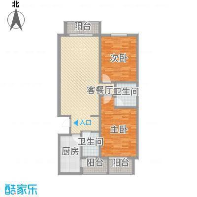 天水丽城二期11.30㎡标准层A户型2室2厅1卫1厨