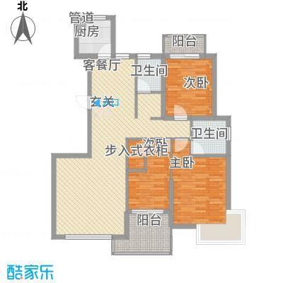 未来海岸系滨湖花园F户型3室2厅2卫1厨
