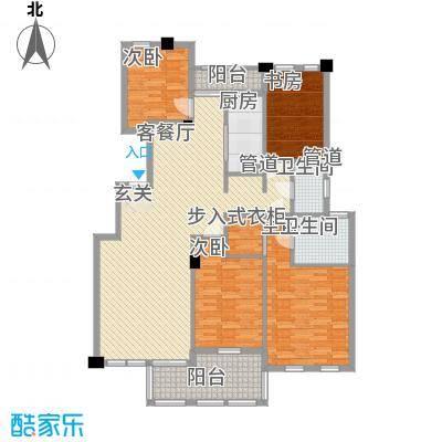 春江花城168.30㎡户型4室2厅3卫1厨