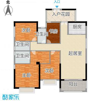 皇马郦宫18.00㎡A3户型4室2厅3卫1厨