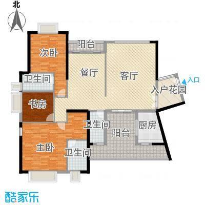 皇马郦宫163.00㎡A2户型3室2厅3卫1厨