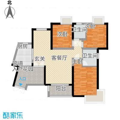 世纪城龙贤苑13.00㎡户型3室