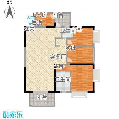 君临宝邸168.30㎡5-28层6-32J单元户型3室2厅2卫1厨