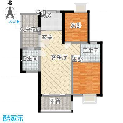 世纪城龙贤苑户型2室